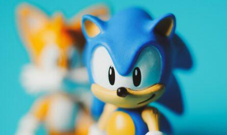 Modrý ježek Sonic ze stejnojmenné hry.